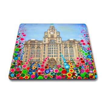 Jo Gough - Liver Building with flowers Magnet