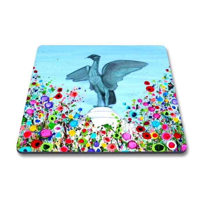 Jo Gough - Liverbird with flowers Magnet