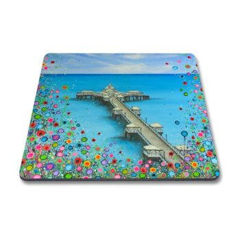 Jo Gough - Llandudno Pier with flowers Magnet