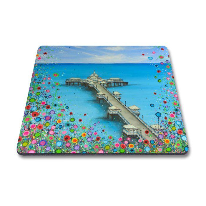 Jo Gough - Llandudno Pier with flowers Magnet