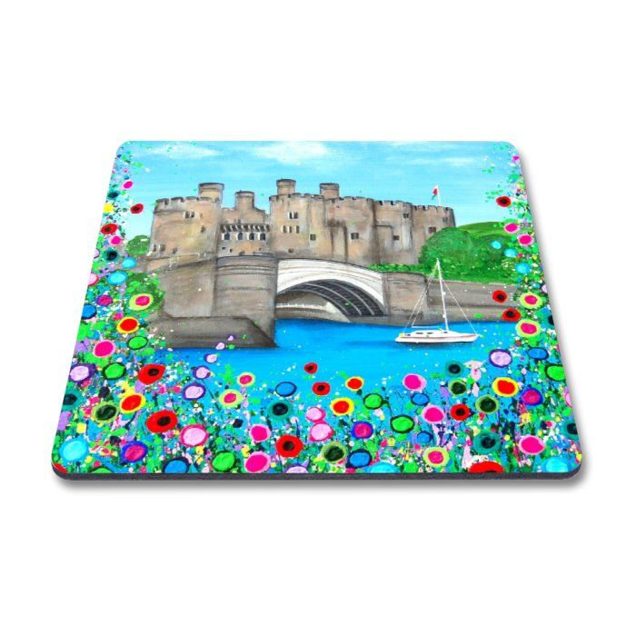 Jo Gough - Conwy Castle with flowers Magnet