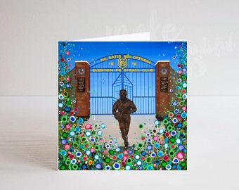 Jo Gough - EFC Dixie Dean with flowers Greeting Card