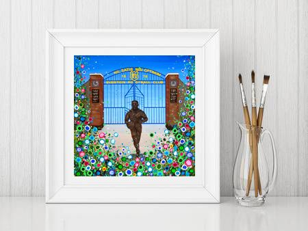 Jo Gough - EFC Dixie Dean with flowers Print From £10