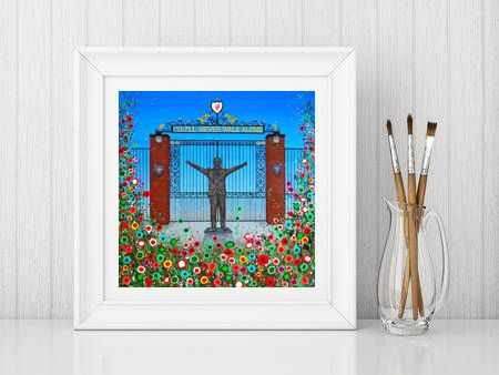 Jo Gough - LFC Shankly Gates with flowers Print From £10