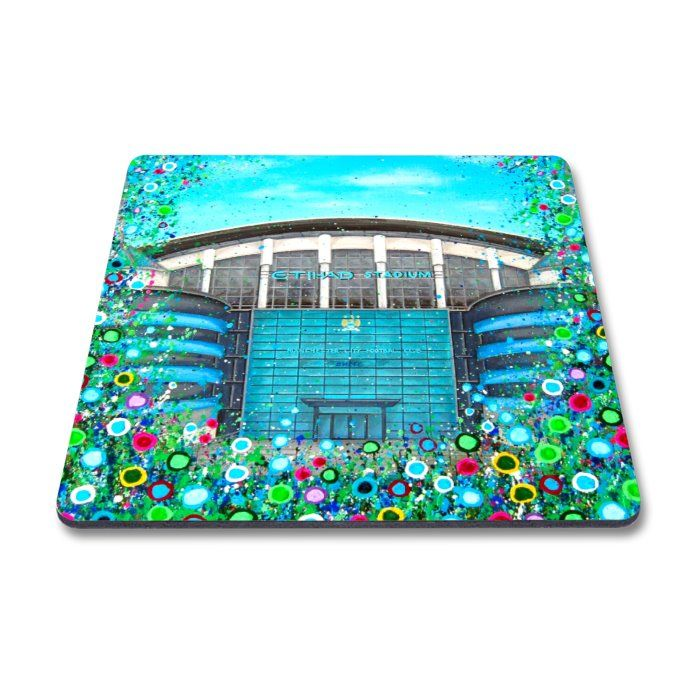 Jo Gough - MCFC The Etihad Stadium with flowers Magnet