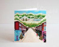 Jo Gough - A Festive Lark Lane Street Scene Christmas Card
