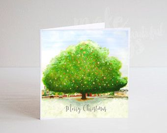 Jo Gough - A Festive Village Tree Christmas Card