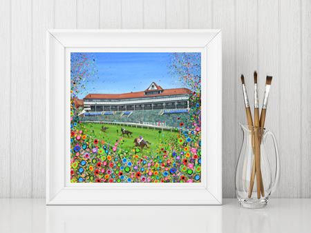 Jo Gough - Chester Racecourse with flowers Print From £10