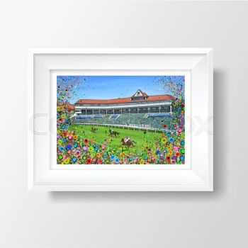 Jo Gough - Chester Racecourse with flowers A4 Print
