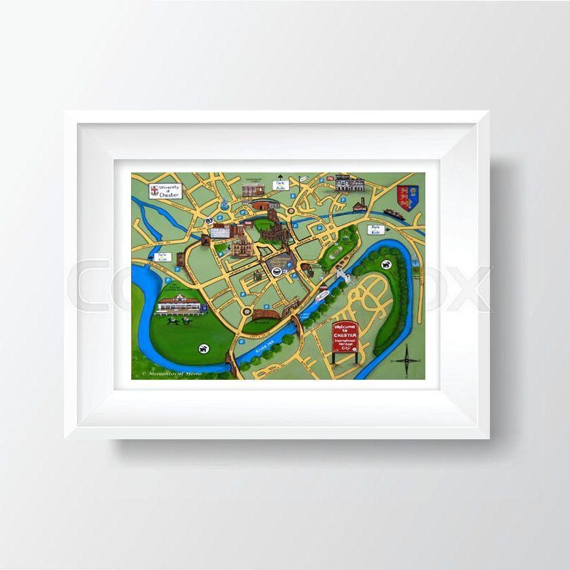 Jo Gough - Chester Map A4 Print