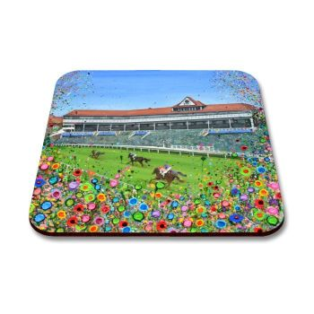 Jo Gough - Chester Racecourse with flowers Coaster
