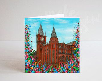 Jo Gough - The Victoria Gallery & Museum with flowers Greeting Card
