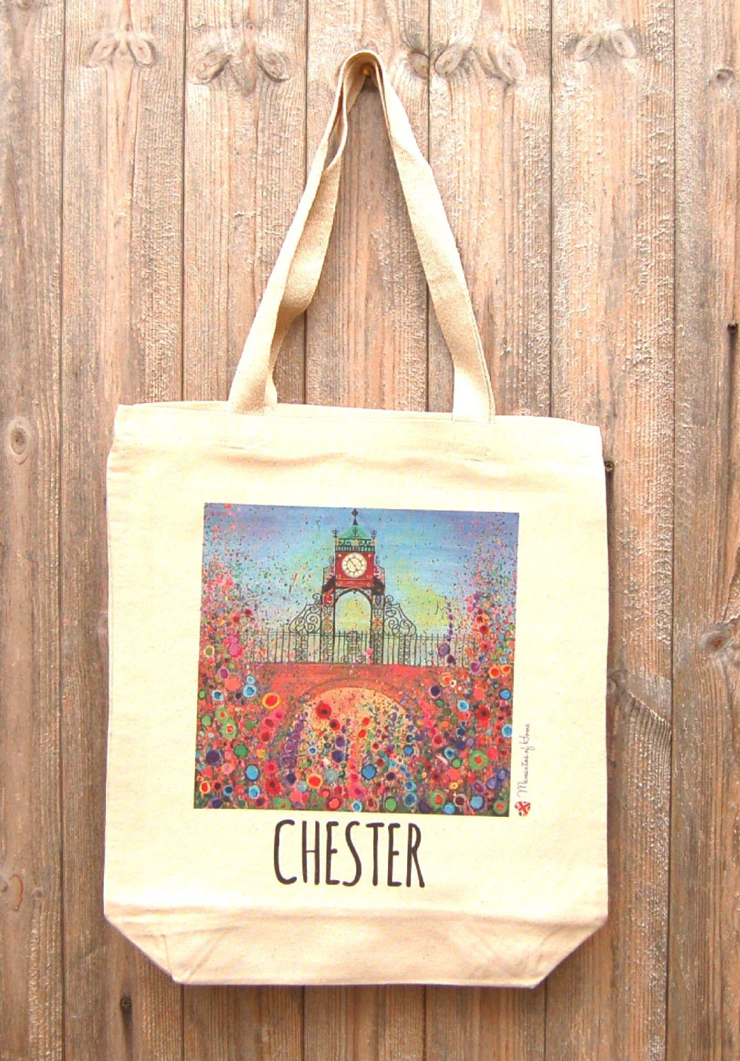 Jo Gough - Chester Clock with flowers Tote Bag