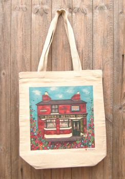 Jo Gough - Rovers Return Pub with flowers Tote Bag