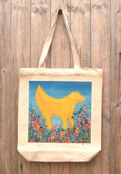 Jo Gough - Liverpool Lambanana with flowers Tote Bag