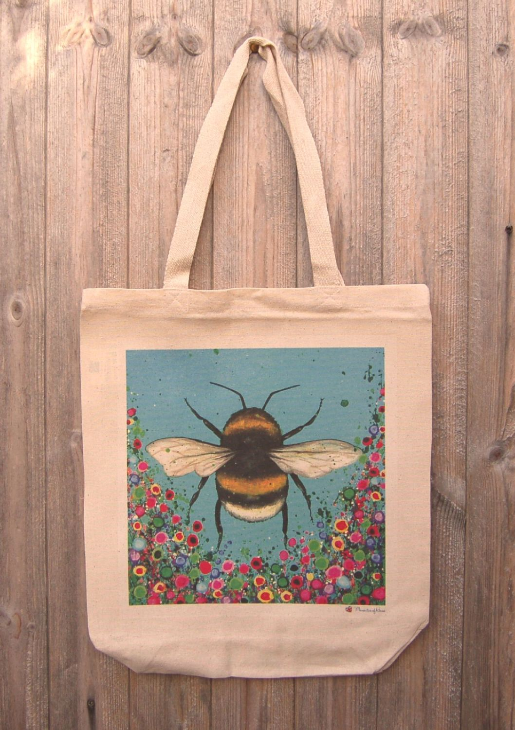 Jo Gough - Bumble Bee with flowers Tote Bag