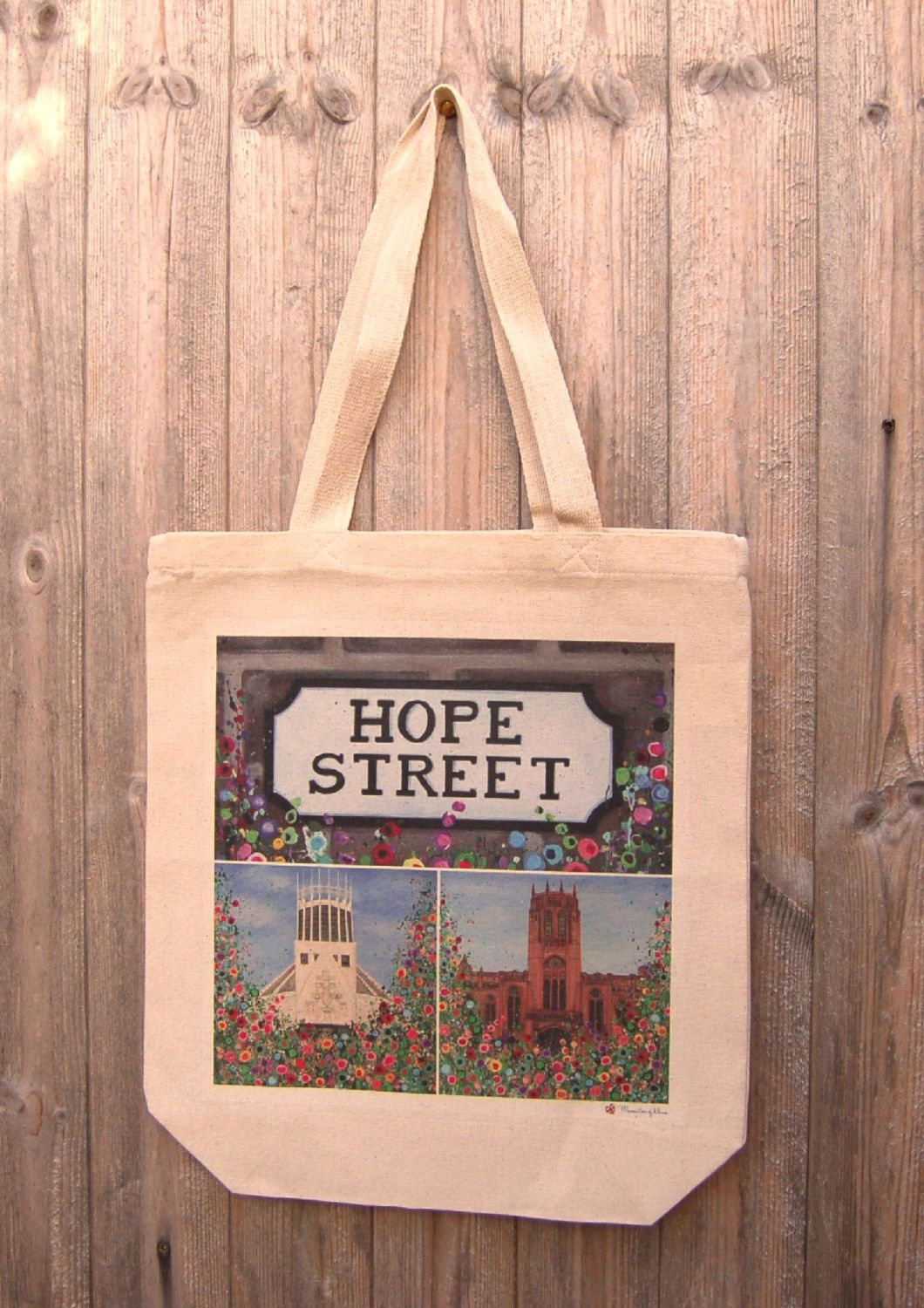 Jo Gough - Hope St Montage with flowers Tote Bag