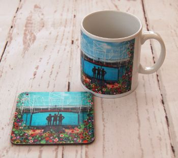 Jo Gough - MUFC Old Trafford Stadium with flowers Mug