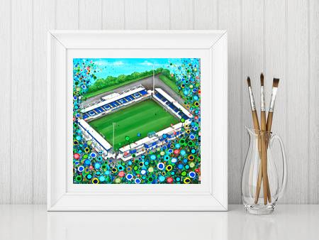Jo Gough - Chester FC with flowers Print From £10