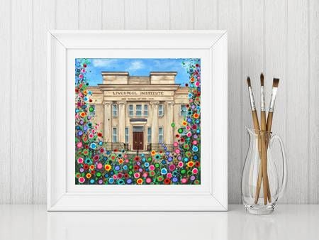Jo Gough - Liverpool LIPA with flowers Print From £10