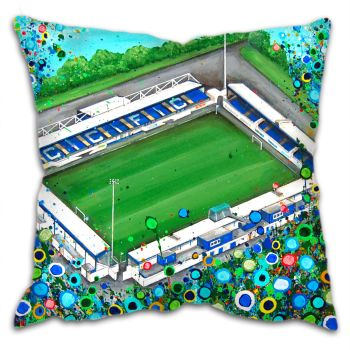 Jo Gough - Chester FC Stadium with flowers Cushion