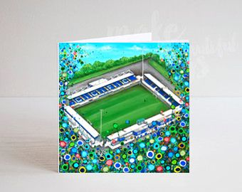 Jo Gough - Chester FC with flowers Greeting Card