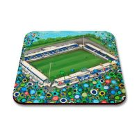 Jo Gough - Chester FC Stadium with flowers Coaster