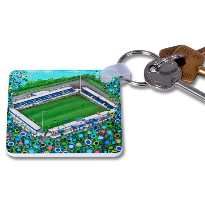 Jo Gough - Chester FC Stadium with flowers Key Ring