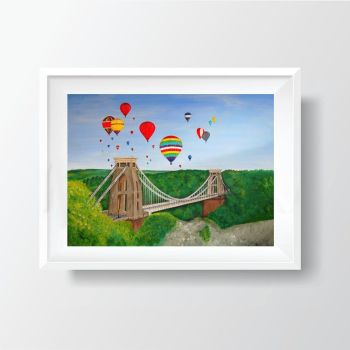 Jo Gough - Clifton Suspension Bridge in Bristol (Plain) 40x30cm