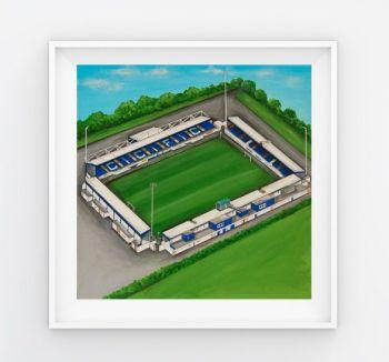Jo Gough - Chester FC Stadium (Plain) 30x30cm