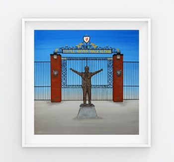 Jo Gough - LFC Shankly Gates (Plain) 30x30cm