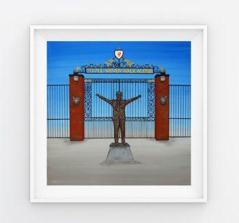 Jo Gough - LFC Shankly Gates (Plain) 30x30cm