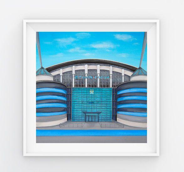 Jo Gough - MCFC Etihad Stadium (Plain) 30x30cm