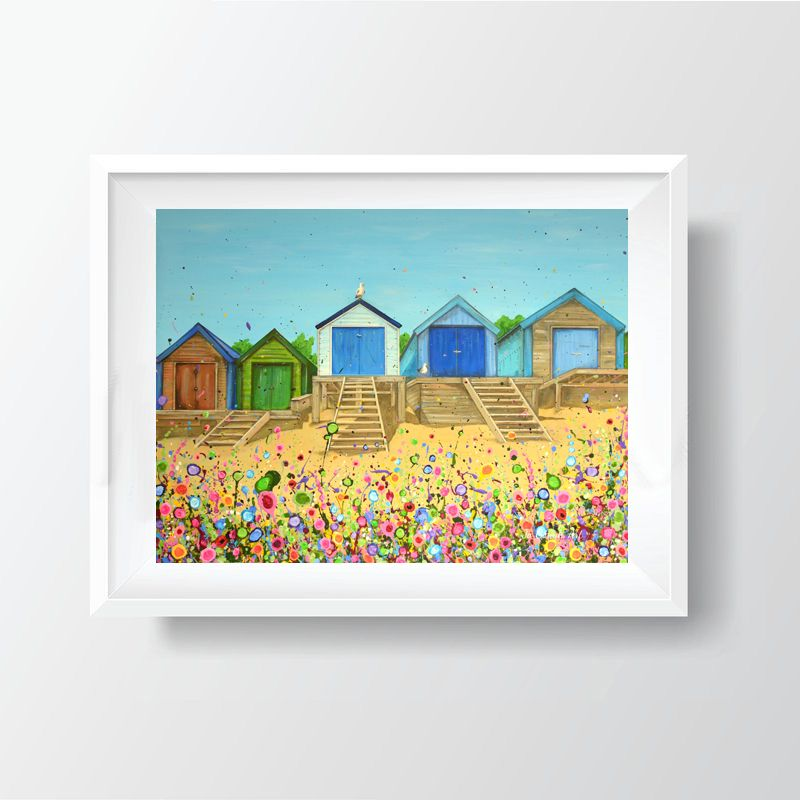 Jo Gough - Abersoch Beach Huts Print (40x30cm)