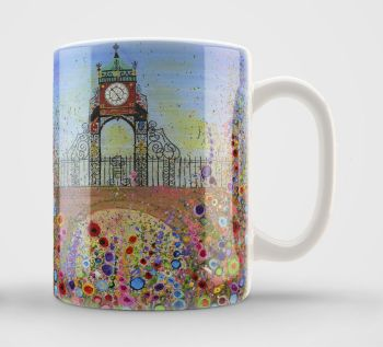 Jo Gough - Chester Clock with flowers Mug