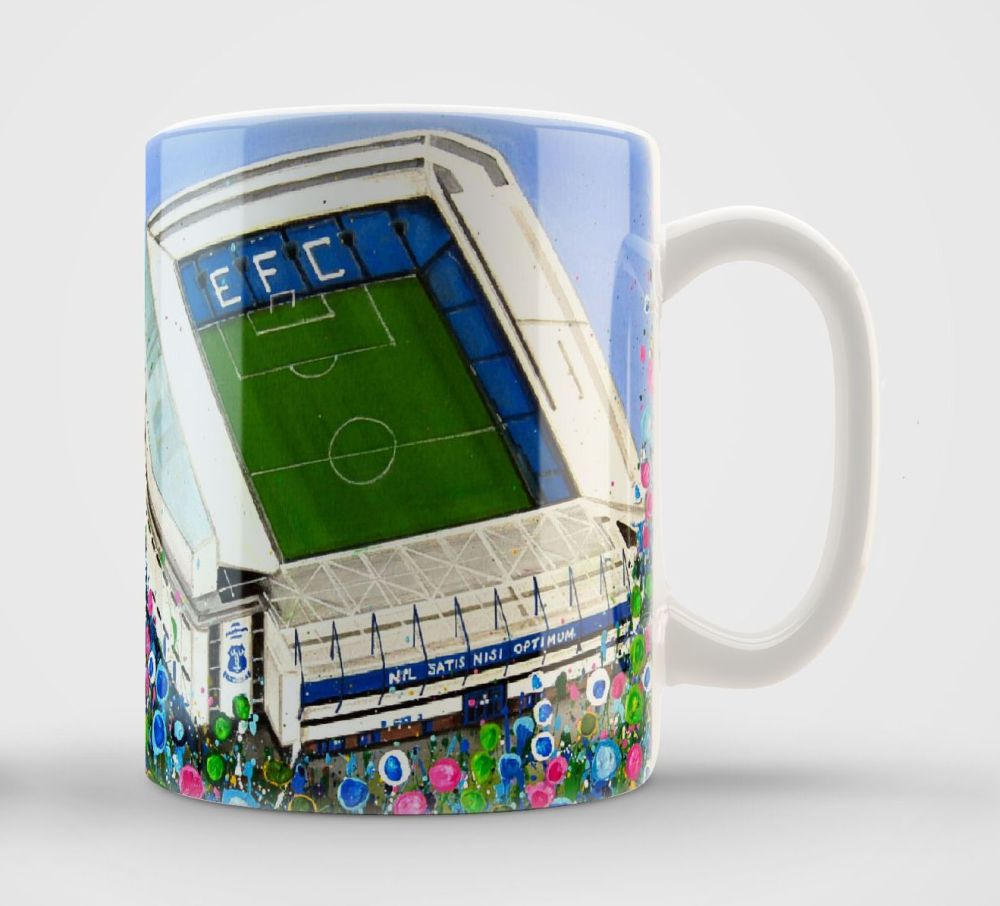 Jo Gough - EFC Stadium with flowers Mug