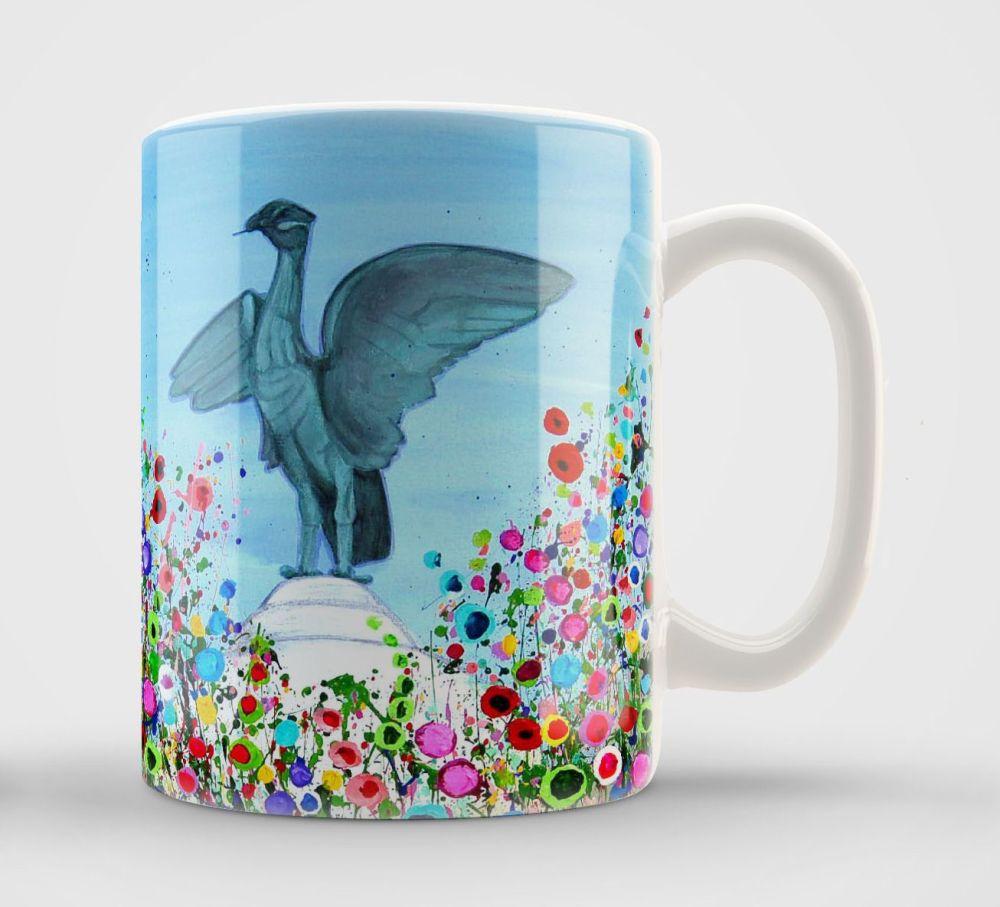 Jo Gough - Liver Bird with flowers Mug