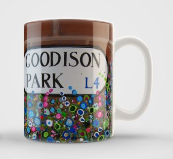 Jo Gough - Goodison Park Sign with flowers Mug