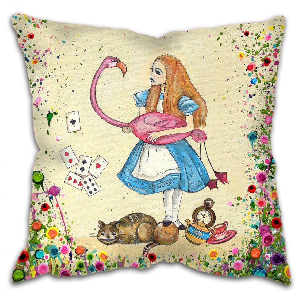 Jo Gough - Alice in Wonderland Cushion