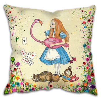 Jo Gough - Alice in Wonderland Cushion
