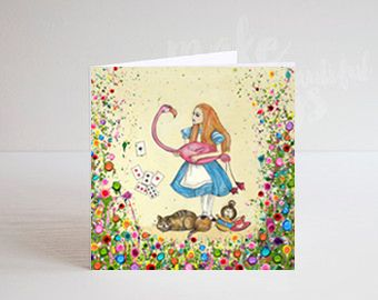 Jo Gough - Alice in Wonderland Greeting Card