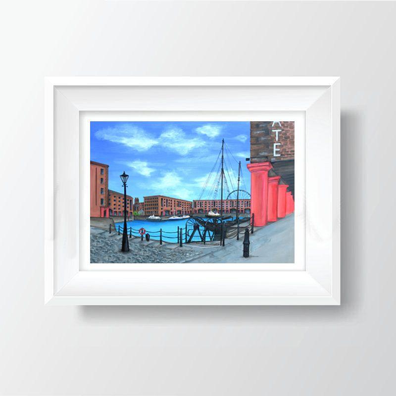 Jo Gough - The Albert Dock (Plain) A4 Print