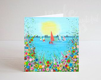 Jo Gough - West Kirby Boating Lake Greeting Card