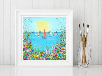 Jo Gough - West Kirby Boating Lake Print From £10