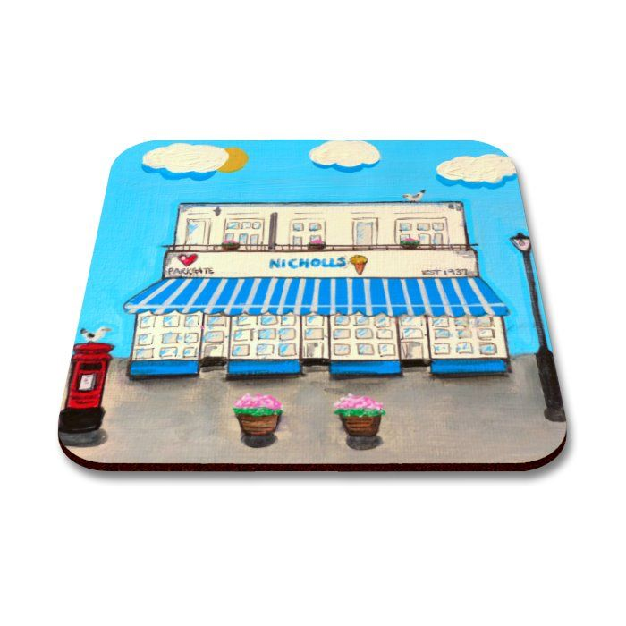 Jo Gough - Nicholls Ice Cream Shop Coaster