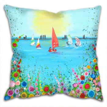 Jo Gough - West Kirby Boating Lake Cushion