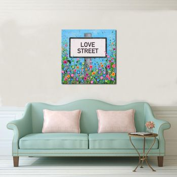 Jo Gough - Personalised Street Sign Canvas Print From £65