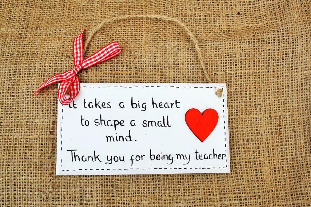Teacher/Assistant plaque/sign 'thank you' gift