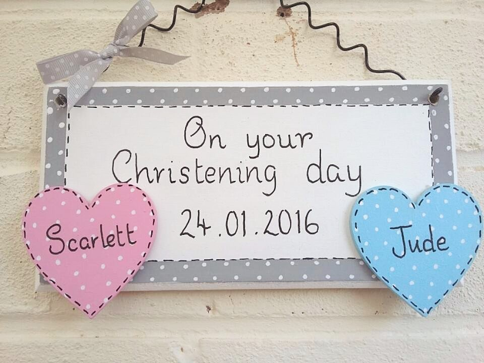 Christening Baptism personalised plaque