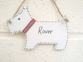Westie Terrier Dog Shaped Decoration Personalised